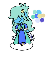 Ocean Sapphire Adopt (CLOSED) by TRASHMAKES-ADOPTS