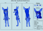 Allie the Aardvark Reference Sheet by KendraTheShinyEevee