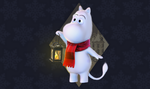 Winter Moomin by Littlenorwegians