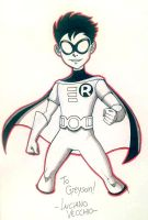 Younger Teen Titans Go ROBIN NYCC Commission by LucianoVecchio