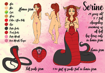[OC] Serine - Reference Sheet by raspberryvixen