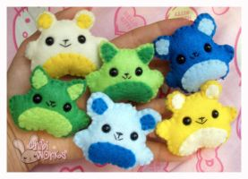 Animal Brooches by ChibiWorks
