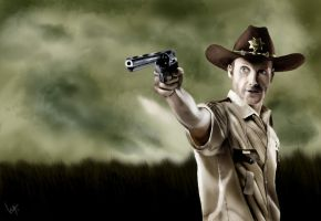 Rick Grimes The Walking Dead by WitaloBDesign