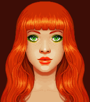 Red Orange Pixel Fanart by oni1ink