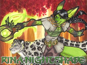 Portrait Badge - Druid Rina Nightshade by Nyxsiern