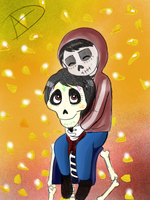 Miguel y Hector by Lucky13spirits