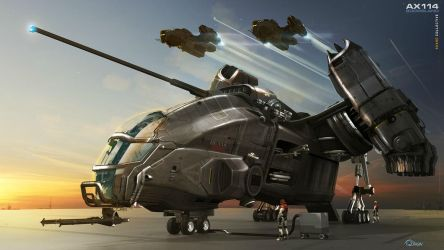 Boomslang Gunship - Final Illustration by ikarus-tm