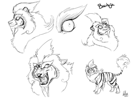 Bauhuja Sketches by InuMimi