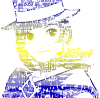 Trucy Typographic Picture by MaykoIshimura