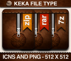Keka File Type Icons by prcmelo