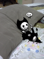 holy crap bendy get oFF MY BE D- by xXRosettaCookieXx