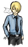 One Piece - Sanji by lithele