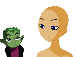 Beast Boy And Oc Base by TFAfangirl14