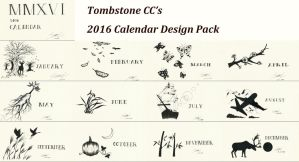 2016 Calendar Design Pack by TombstoneCC