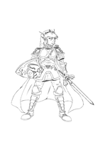 Link (outlines) by Dragonfunk7