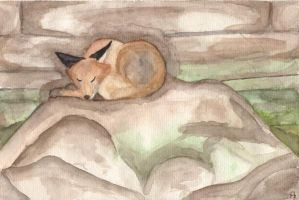 Sleepy Fox by KuschelGarou