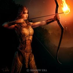 flaming arrow by dypsomaniart