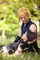 Cloud and Tifa - precious by LiaDeBeaumont
