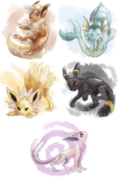 eeveelutions by loriLUNACY