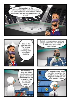 Tiny Robots comic, page 1. by Master-of-Onion