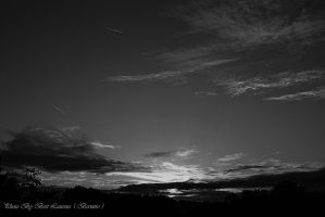 Another sunset in B/W. by Bermiro