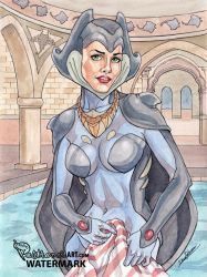 Nesoi in the palace bath - Maidens of fortuna by Pastranas-Art