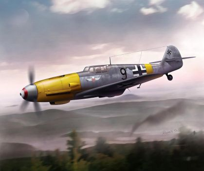 Messerschmitt Bf-109G-2 Croatian legion in Russia by 0viking0