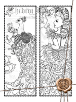 Peacock Bookmark by Chibivi-Linearts