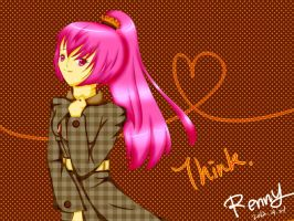 Thingking girl by Renny1998