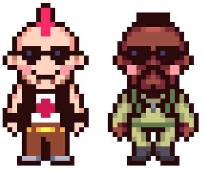 Earthbound: Punk and Arms Dealer Mother 4 Style by 16bitking
