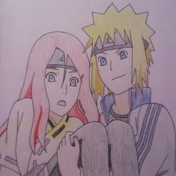 Young Minato And Kushina by Britney151