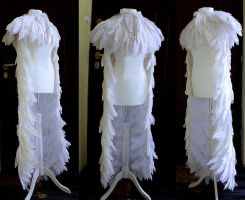 White pelerine long wedding cape by Pinkabsinthe