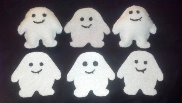 Doctor Who Adipose pins and stickers by vanessa1775