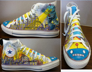 Robot Shoe by fatfreecookies