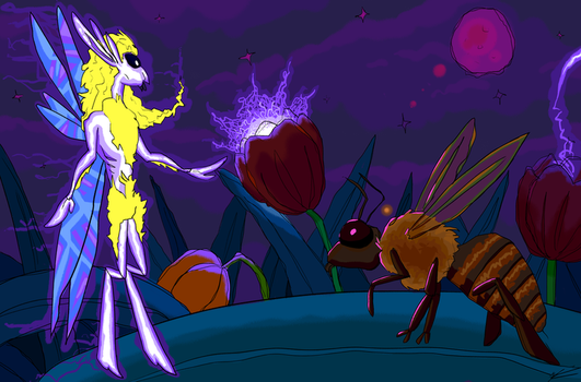 Maya the Bee meets the Flower Sprite (version 2) by Mikewell