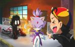 Blaze Burns Chavo xD by MistressAinley