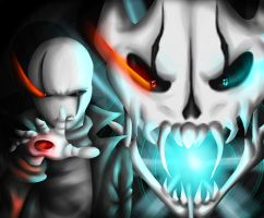 Meet your end .:Glitchtale Gaster:. by XeniaStar