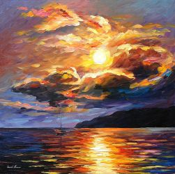 Gold Clouds by Leonid Afremov by Leonidafremov