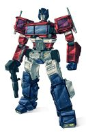 Optimus Prime 2015 colours by Blitz-Wing