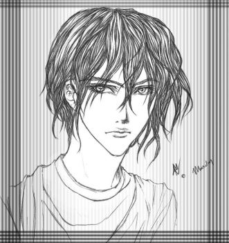 Wavy-haired Dude by mirai4