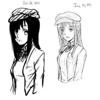 Comparison Sketch: Hanako by 4rcher