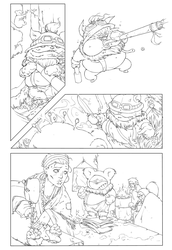 Riot comic contest entry BnW by Potem1917