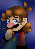 Chained for bowser by raygirl12