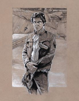 Han Solo sketch by MarkButtonDesign