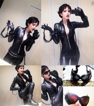 WIP Adam Hughes Catwoman by langdons