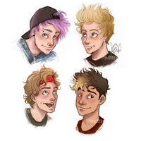 5SOS headshots by itslopez