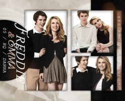 Photopack 8992 - Freddie Highmore and Emma Roberts by southsidepngs