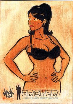 Archer Sketchcard 01 by RobertHack
