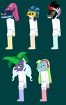 CSMM: Shadowbolts as Moon Children With Masks by Eli-J-Brony