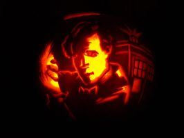 Eleventh Doctor pumpkin by arteclair
